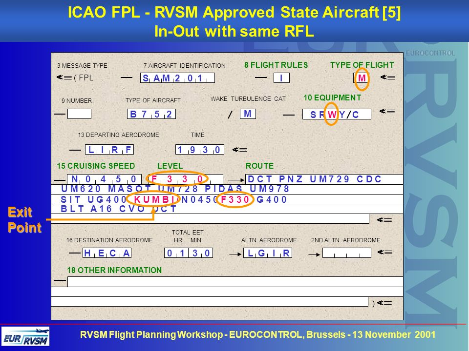 ICAO FPL - RVSM Approved State Aircraft [5]
