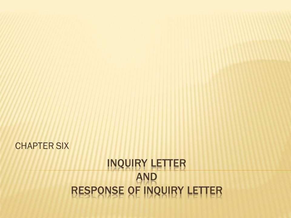 Inquiry letter and response of inquiry letter ppt video online inquiry letter and response of inquiry letter thecheapjerseys Images