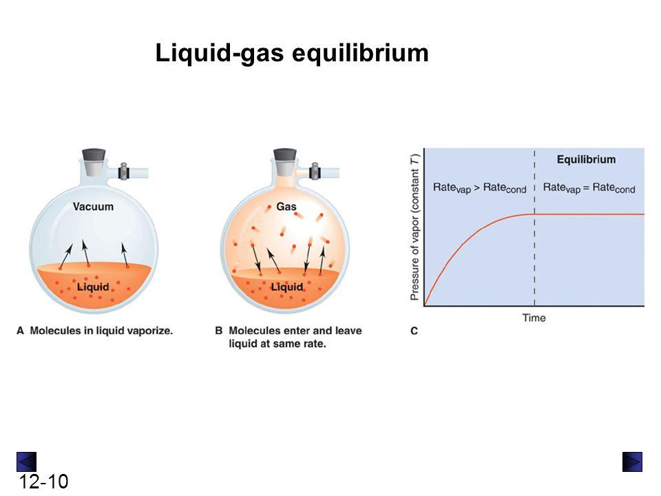 Liquid-gas equilibrium