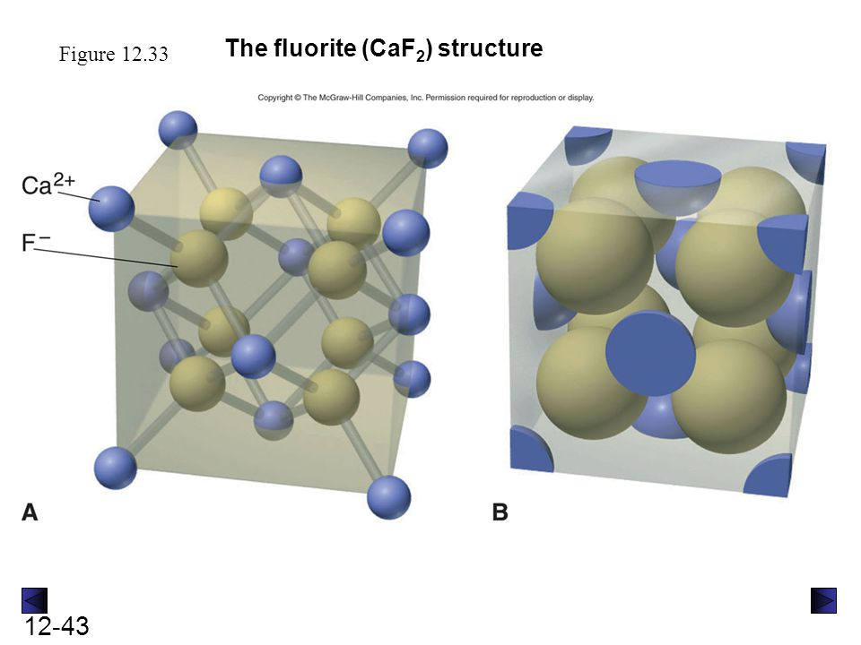 The fluorite (CaF2) structure