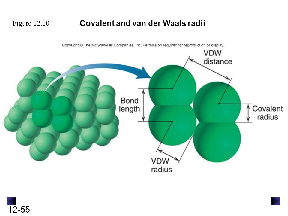 Covalent and van der Waals radii