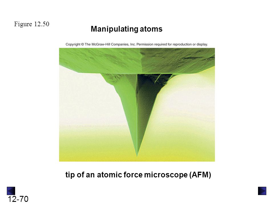 tip of an atomic force microscope (AFM)