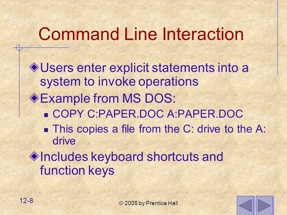 Command Line Interaction