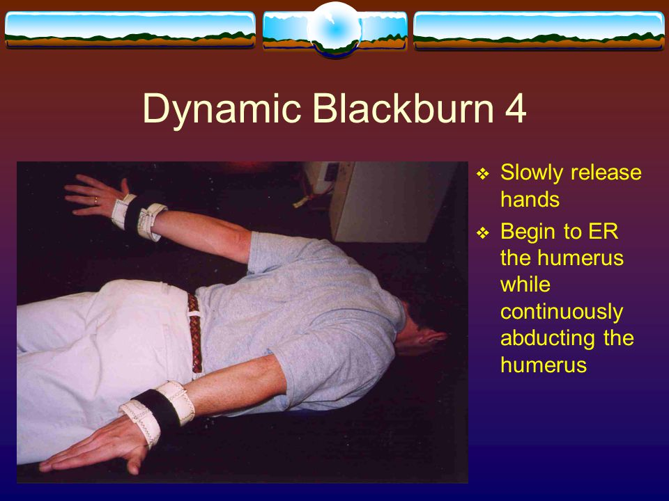 Dynamic Blackburn 4 Slowly release hands