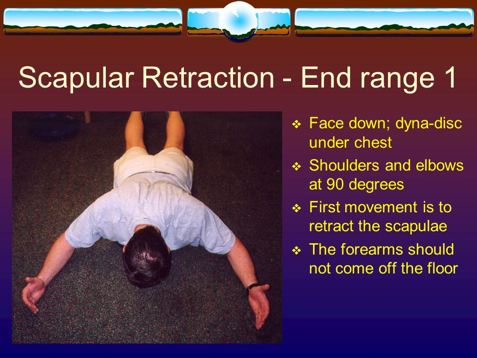 Scapular Retraction - End range 1