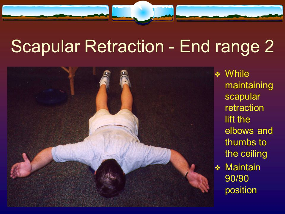 Scapular Retraction - End range 2