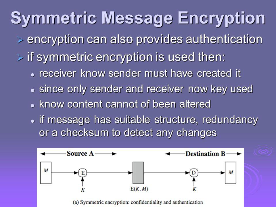 Symmetric Message Encryption