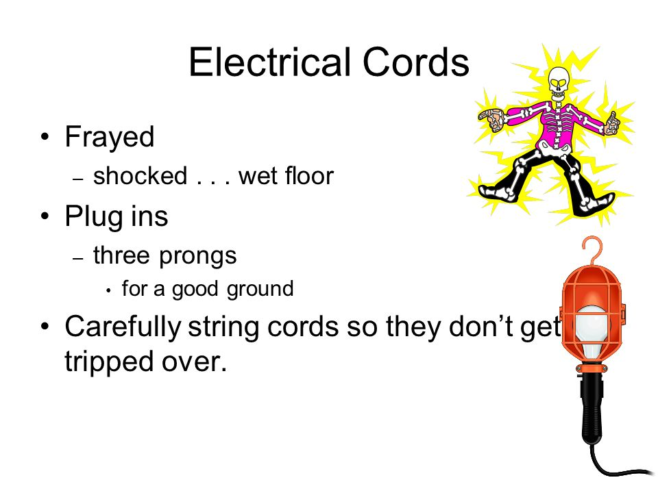 Electrical Cords Frayed Plug ins
