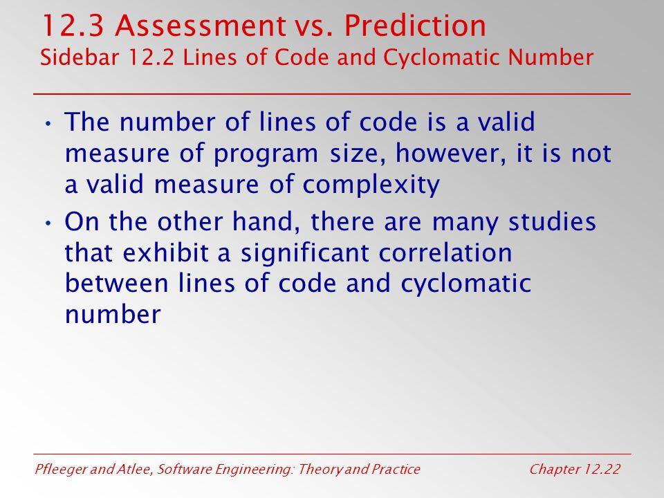 12. 3 Assessment vs. Prediction Sidebar 12