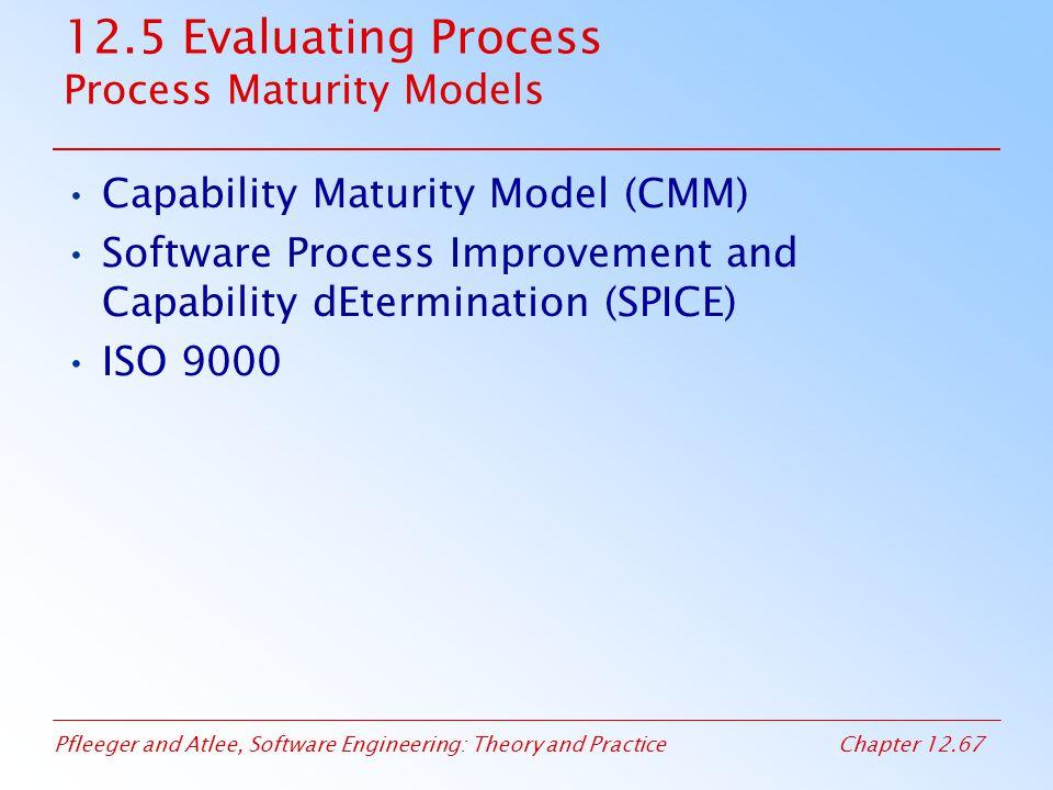 12.5 Evaluating Process Process Maturity Models