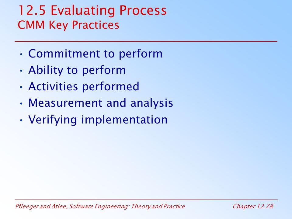 12.5 Evaluating Process CMM Key Practices