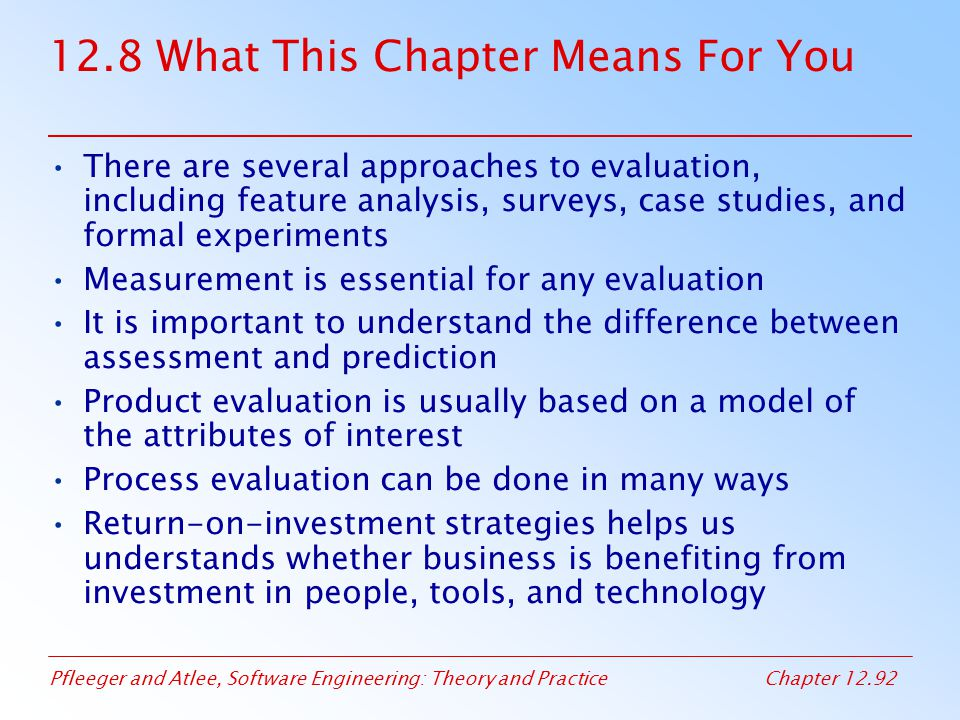 12.8 What This Chapter Means For You