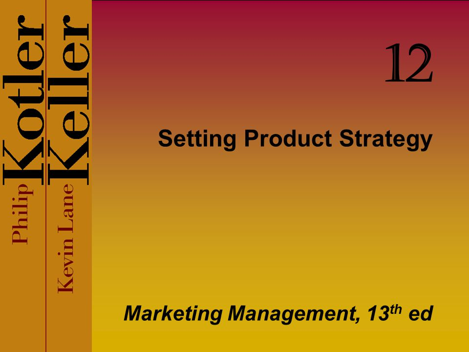 Setting Product Strategy