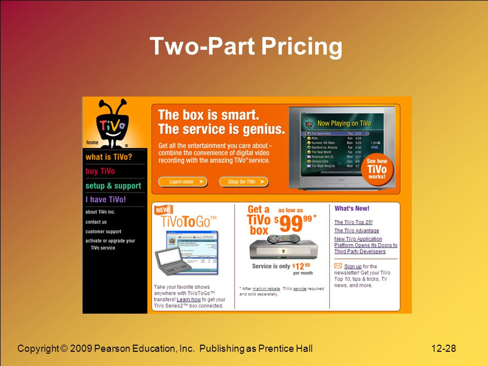 Two-Part Pricing Copyright © 2009 Pearson Education, Inc.