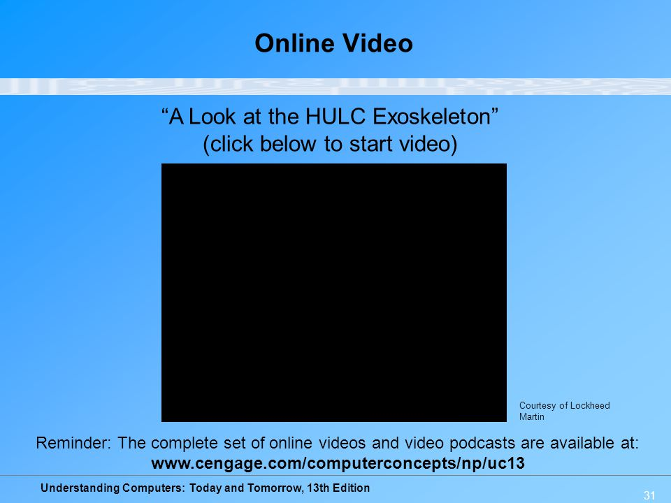 Online Video A Look at the HULC Exoskeleton