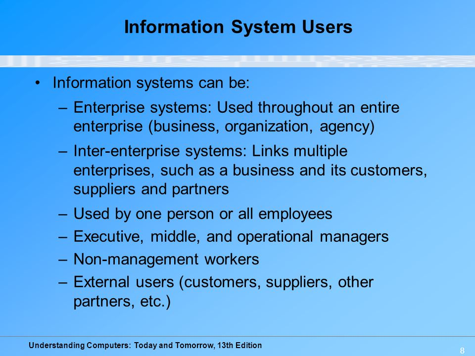 Information System Users