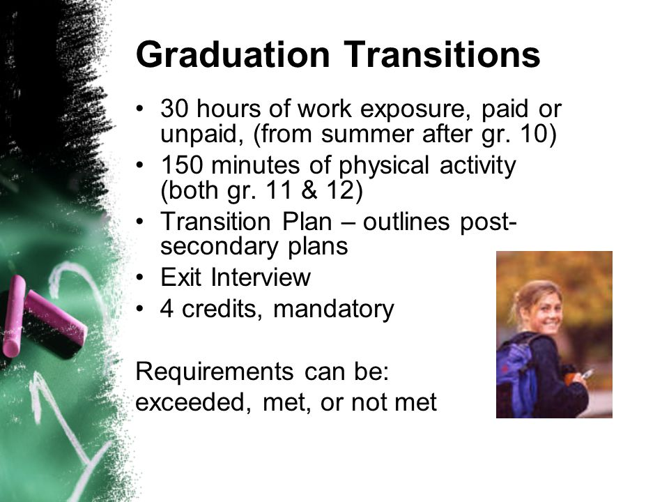 Graduation Transitions