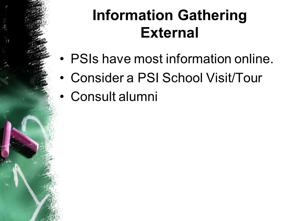 Information Gathering External