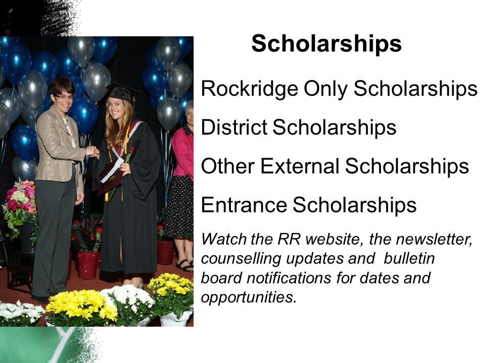 Scholarships Rockridge Only Scholarships District Scholarships