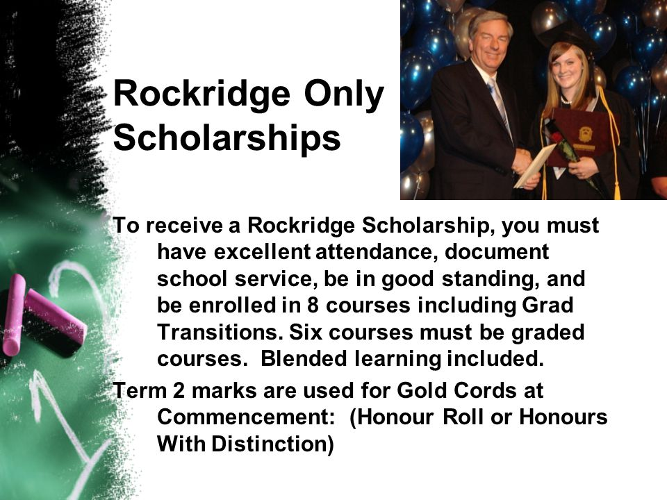 Rockridge Only Scholarships