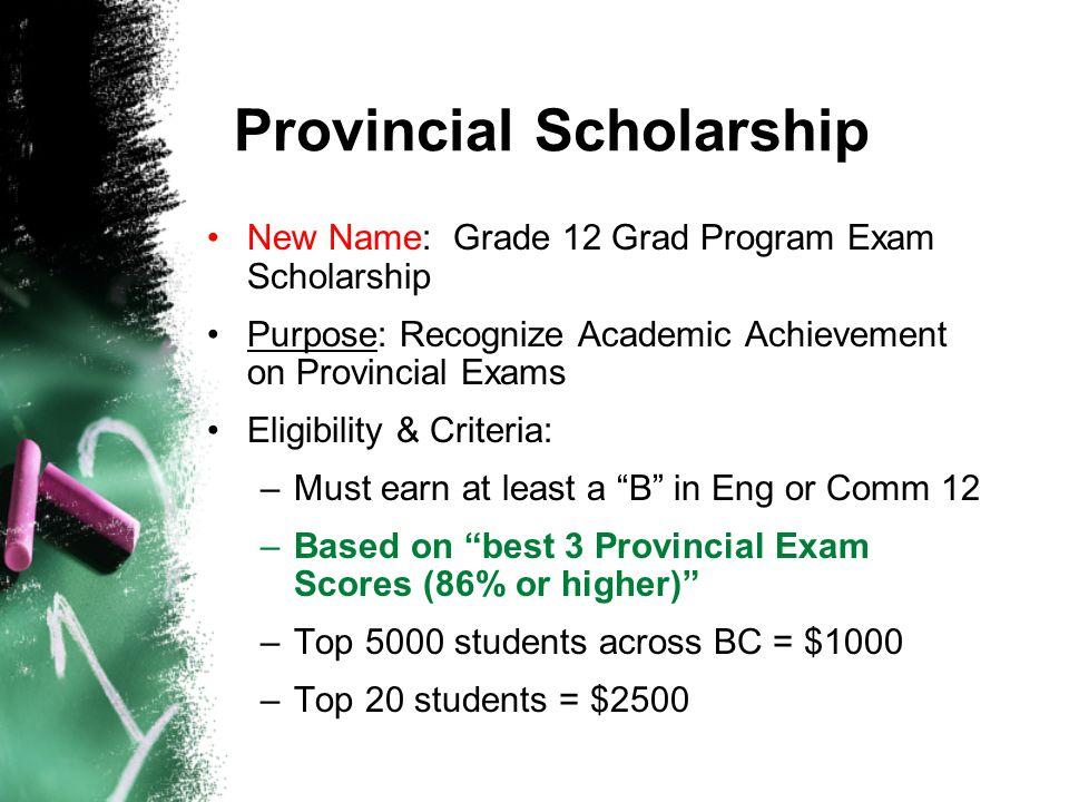 Provincial Scholarship
