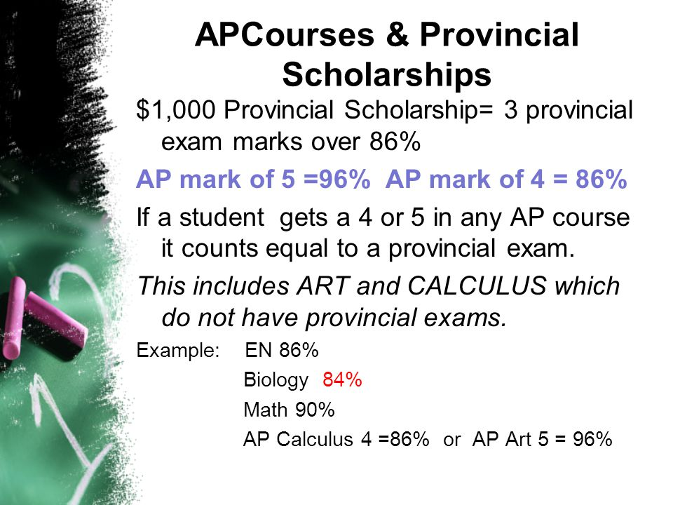APCourses & Provincial Scholarships