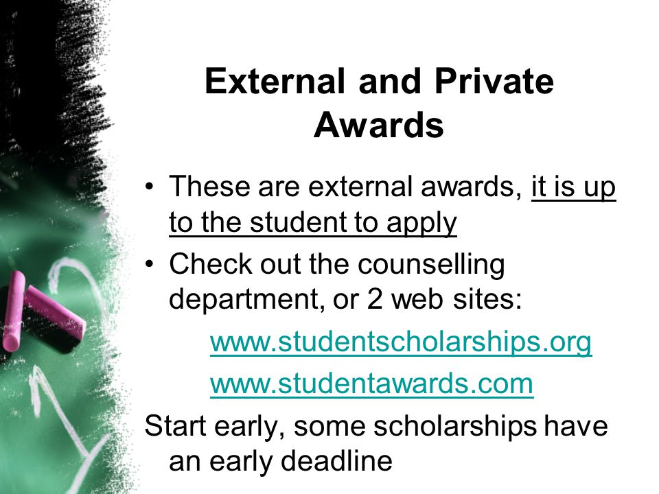 External and Private Awards