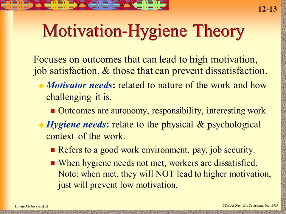 Motivation-Hygiene Theory