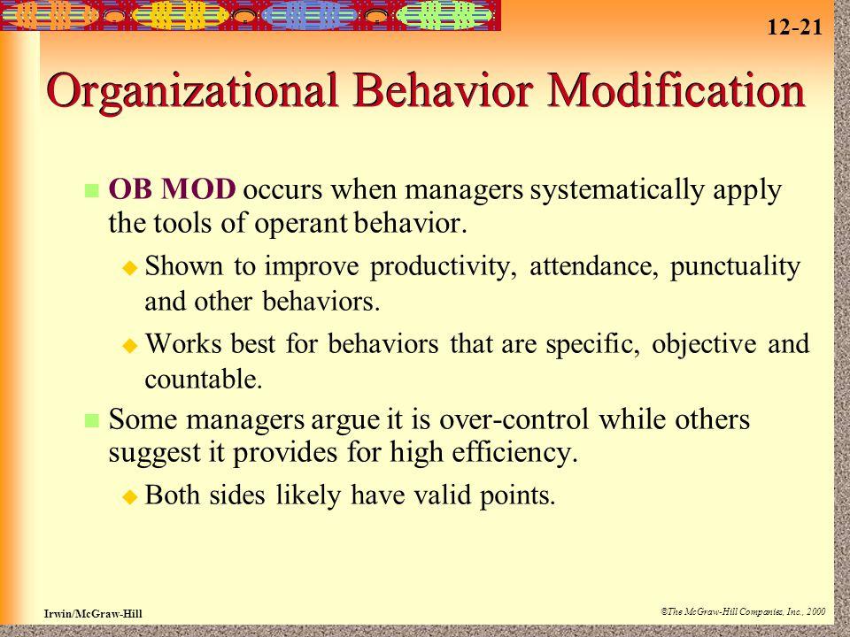 Organizational Behavior Modification