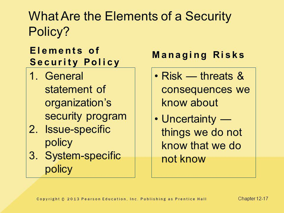 What Are the Elements of a Security Policy