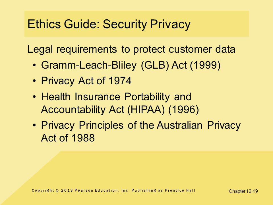 Ethics Guide: Security Privacy