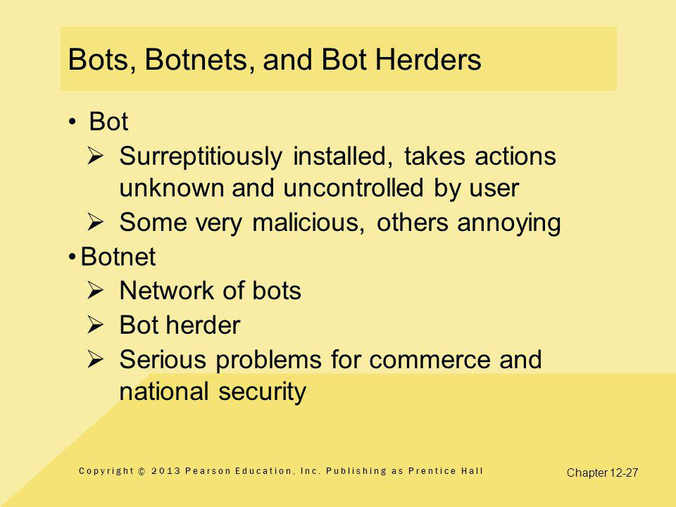 Bots, Botnets, and Bot Herders