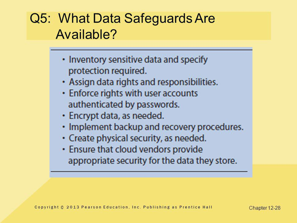 Q5: What Data Safeguards Are Available