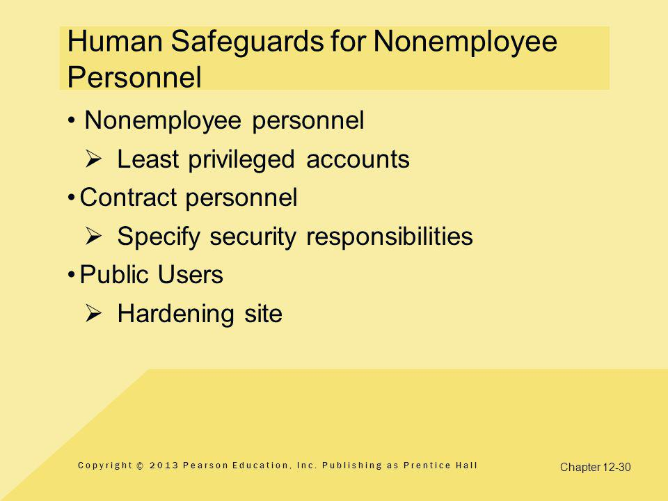 Human Safeguards for Nonemployee Personnel