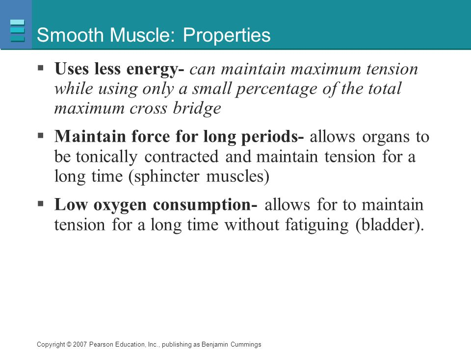 Smooth Muscle: Properties