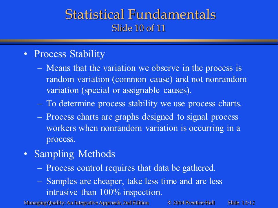 Statistical Fundamentals Slide 10 of 11
