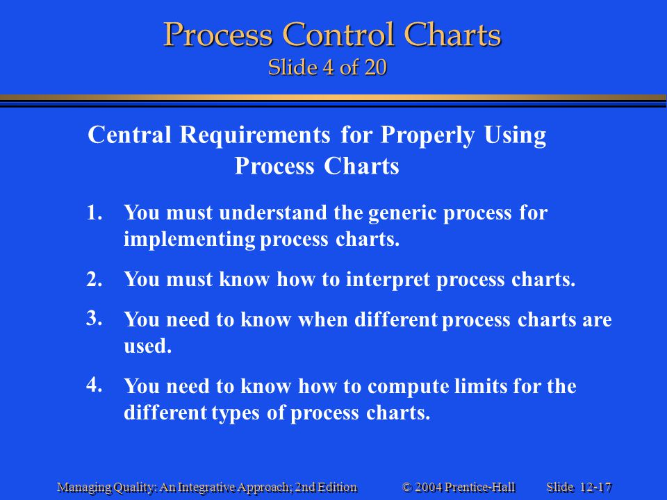 Process Control Charts Slide 4 of 20