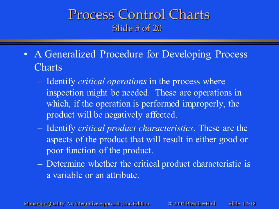 Process Control Charts Slide 5 of 20