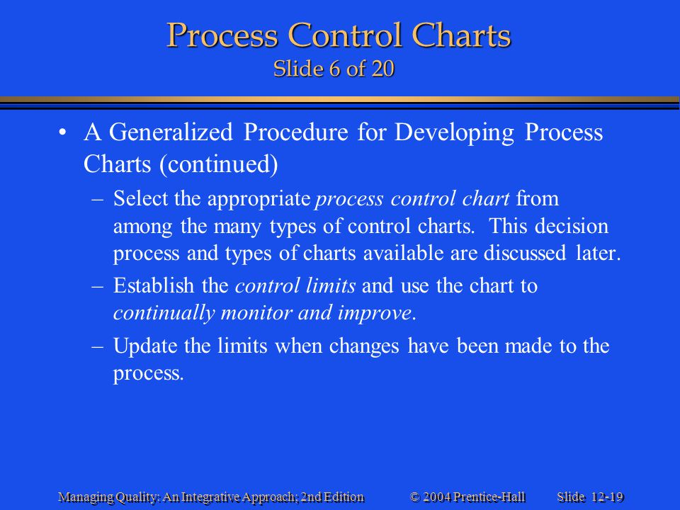 Process Control Charts Slide 6 of 20