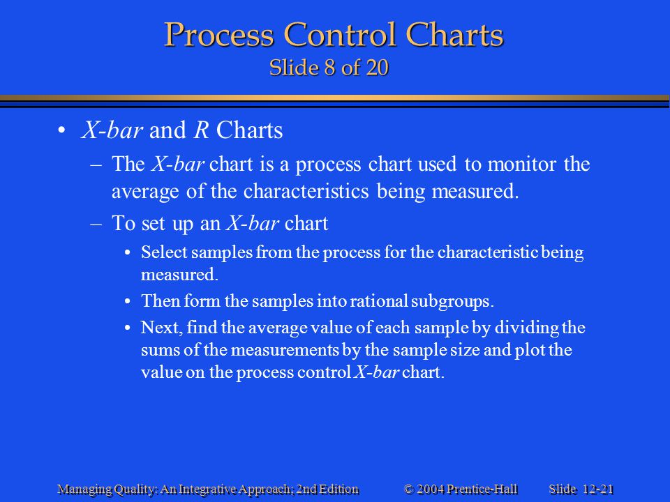 Process Control Charts Slide 8 of 20