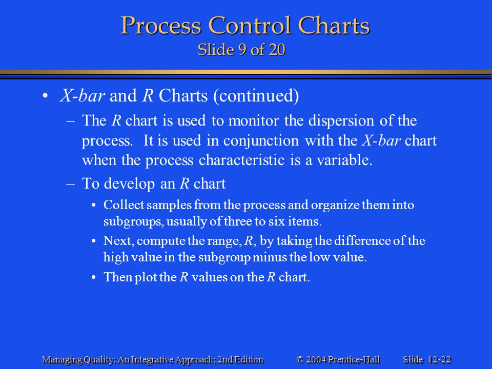 Process Control Charts Slide 9 of 20