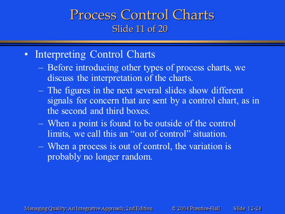 Process Control Charts Slide 11 of 20