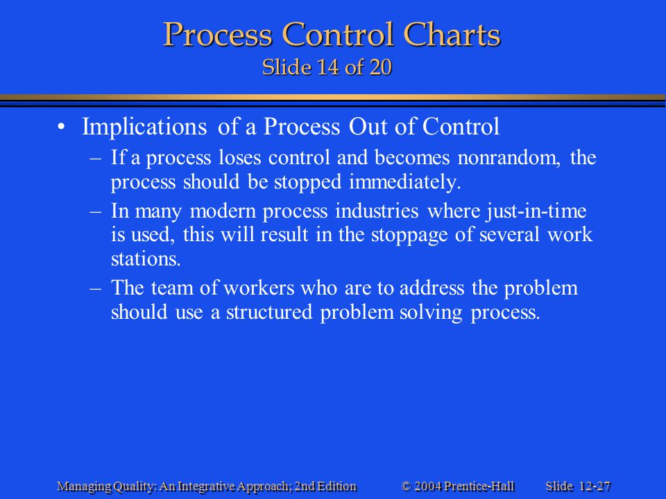 Process Control Charts Slide 14 of 20