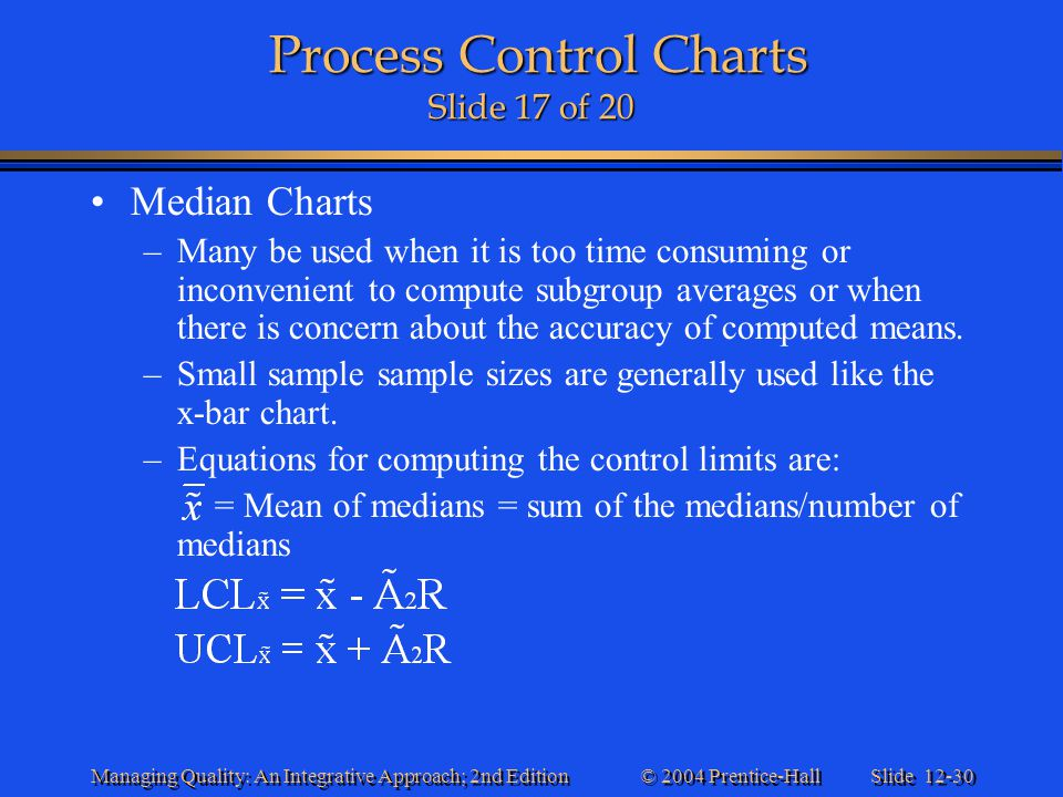 Process Control Charts Slide 17 of 20