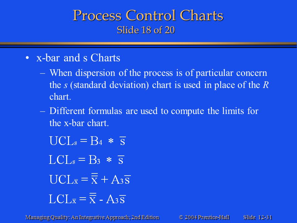 Process Control Charts Slide 18 of 20
