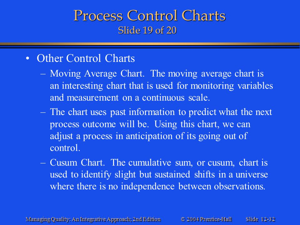 Process Control Charts Slide 19 of 20