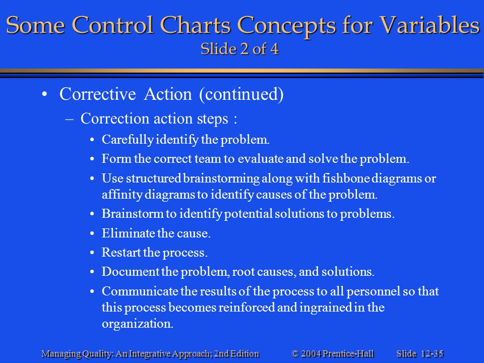 Some Control Charts Concepts for Variables Slide 2 of 4