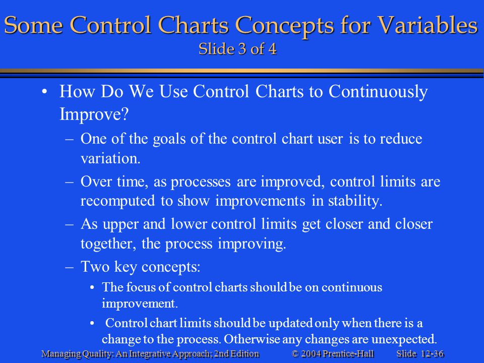 Some Control Charts Concepts for Variables Slide 3 of 4