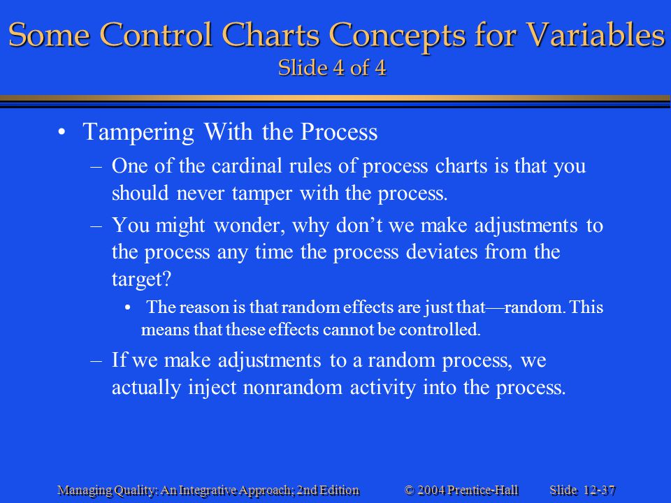 Some Control Charts Concepts for Variables Slide 4 of 4