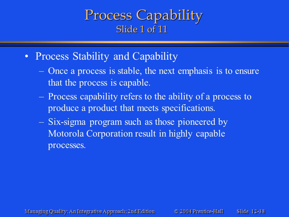 Process Capability Slide 1 of 11